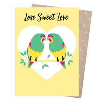 Greeting Card - Swift Parrot Love