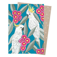 Greeting Card - Silver Gum Cockatoos
