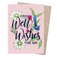 Greeting Card - Well Wishes Wren