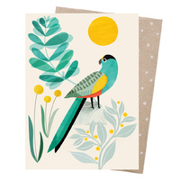 Greeting Card - Golden-shouldered Parrot