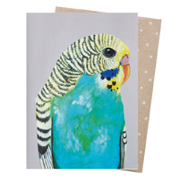 Greeting Card - Bessie Budgie