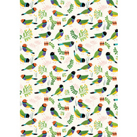 Flat Wrapping Paper - Desert Finches