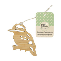 Bamboo Decoration - Laughing Kookaburra