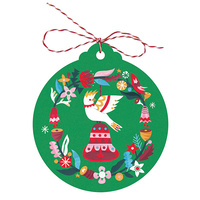Christmas Tags - Cockatoo Bell (Pack of 5)