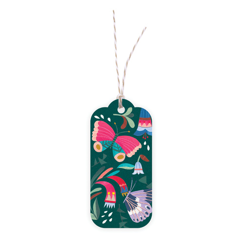 Gift Tag - Tropical Butterflies