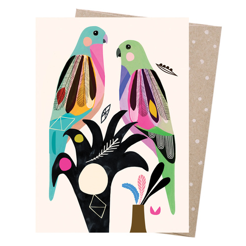 Greeting Card - Princess Parrots
