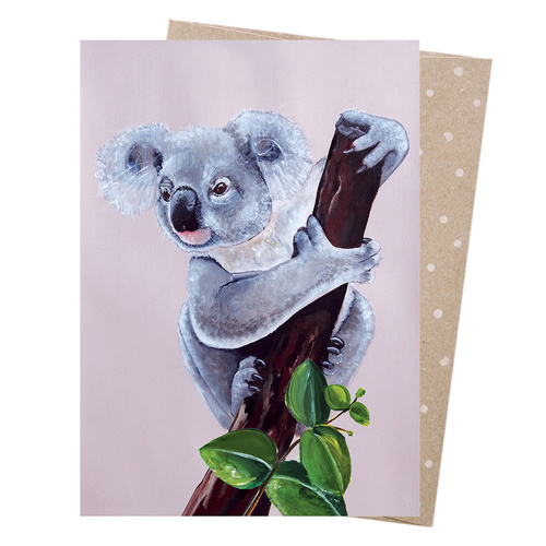 Greeting Card - Lilac Koala