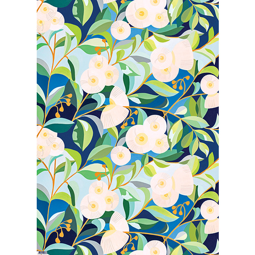 Flat Wrapping Paper - Lemon-Scented Gum